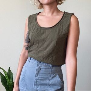 [Vintage] Green Knit Sleeveless Tank